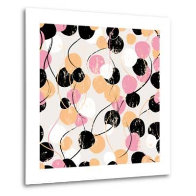 Background Pattern with Circles, Strokes and Splashes-Kirsten Hinte-Metal Print