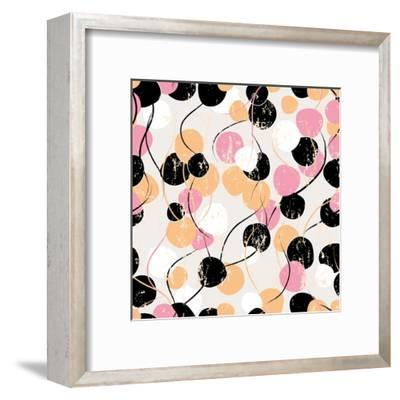 Background Pattern with Circles, Strokes and Splashes-Kirsten Hinte-Framed Art Print