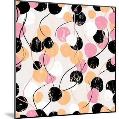 Background Pattern with Circles, Strokes and Splashes-Kirsten Hinte-Mounted Art Print