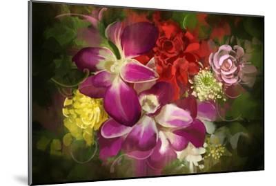 Mixed Flower Bouquet,Digital Painting,Illustration-Tithi Luadthong-Mounted Art Print
