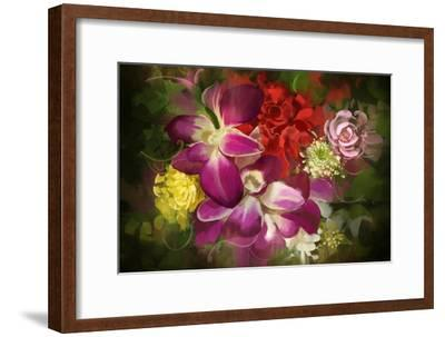 Mixed Flower Bouquet,Digital Painting,Illustration-Tithi Luadthong-Framed Art Print