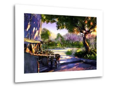 Digital Painting Showing Beautiful Sunny in the Park,Illustration-Tithi Luadthong-Metal Print