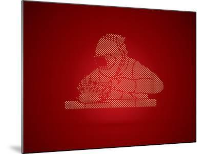 Welder Working Welding Designed Using Dots Pixels Graphic Vector-Arak Rattanawijittakorn-Mounted Art Print