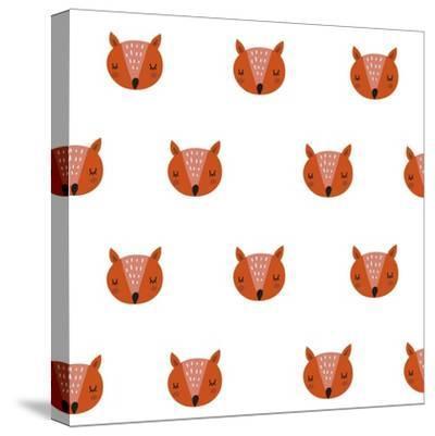 Fox Print-Nadezda Barkova-Stretched Canvas Print