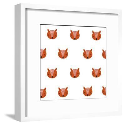 Fox Print-Nadezda Barkova-Framed Art Print