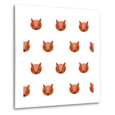 Fox Print-Nadezda Barkova-Metal Print