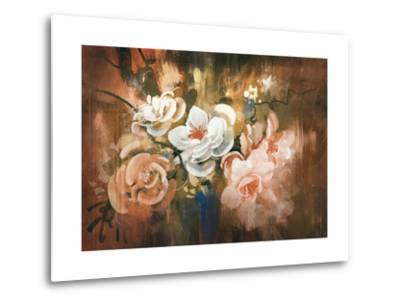 Digital Painting of Abstract Flowers-Tithi Luadthong-Metal Print