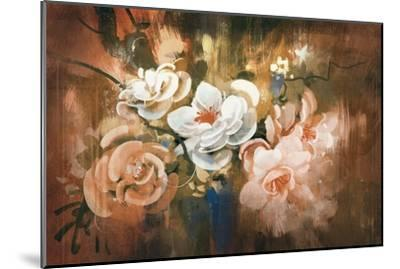 Digital Painting of Abstract Flowers-Tithi Luadthong-Mounted Art Print