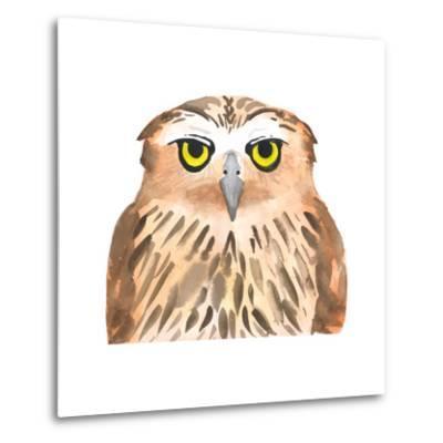 Owl Bird. Watercolor, Vector-Evgeniy Agarkov-Metal Print