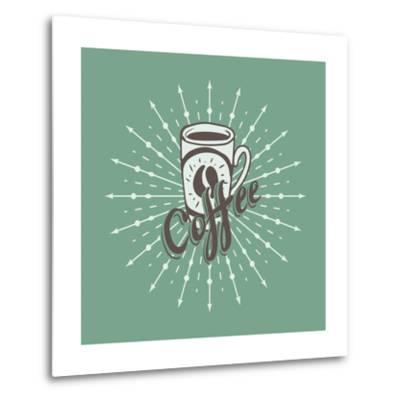 Hand Drawn Background with Coffee Mug-Ms Moloko-Metal Print