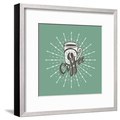 Hand Drawn Background with Coffee Mug-Ms Moloko-Framed Art Print