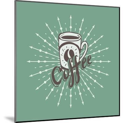 Hand Drawn Background with Coffee Mug-Ms Moloko-Mounted Art Print
