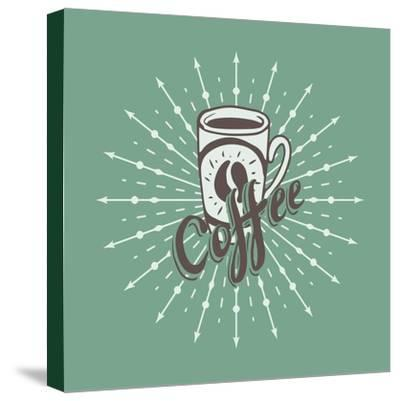 Hand Drawn Background with Coffee Mug-Ms Moloko-Stretched Canvas Print