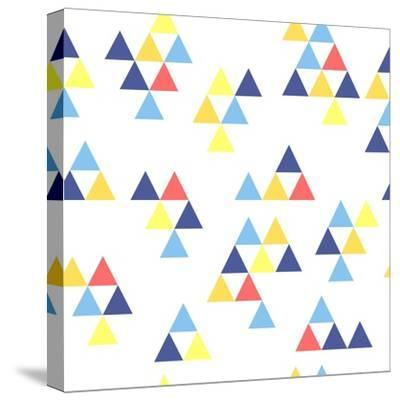 Colorful Background. Background with Colored Triangles. Colorful Abstract Pattern. Geometric Patter-Anastasiya Stalmahova-Stretched Canvas Print