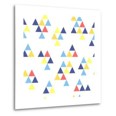 Colorful Background. Background with Colored Triangles. Colorful Abstract Pattern. Geometric Patter-Anastasiya Stalmahova-Metal Print