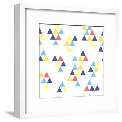 Colorful Background. Background with Colored Triangles. Colorful Abstract Pattern. Geometric Patter-Anastasiya Stalmahova-Framed Art Print