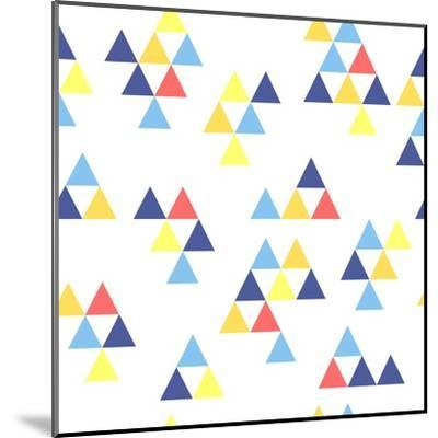 Colorful Background. Background with Colored Triangles. Colorful Abstract Pattern. Geometric Patter-Anastasiya Stalmahova-Mounted Art Print