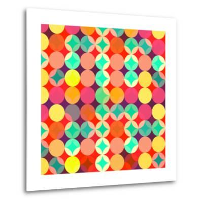 Retro Style Abstract Colorful Background-HAKKI ARSLAN-Metal Print