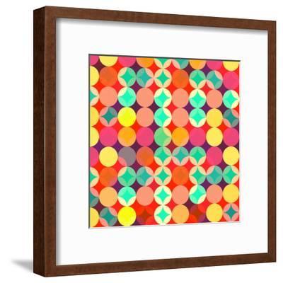 Retro Style Abstract Colorful Background-HAKKI ARSLAN-Framed Art Print