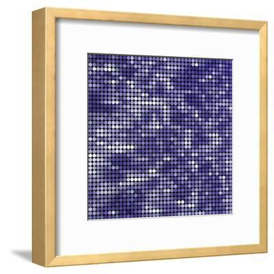 Abstract Vector Colored round Dots Background-Green Flame-Framed Art Print