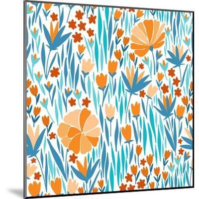 Summer Flower Pattern-Maria_Galybina-Mounted Art Print