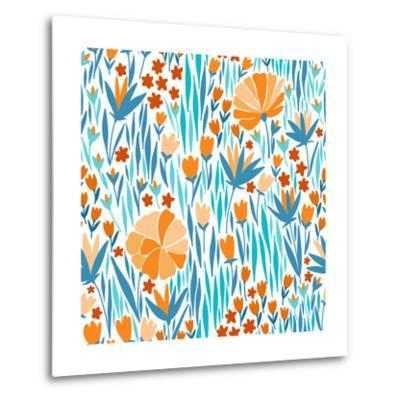 Summer Flower Pattern-Maria_Galybina-Metal Print