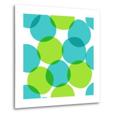 Bright Seamless Pattern with Circles. Colorful Abstract Background.-ms Octopus-Metal Print