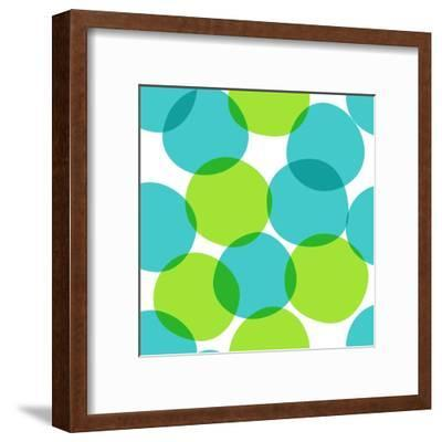 Bright Seamless Pattern with Circles. Colorful Abstract Background.-ms Octopus-Framed Art Print