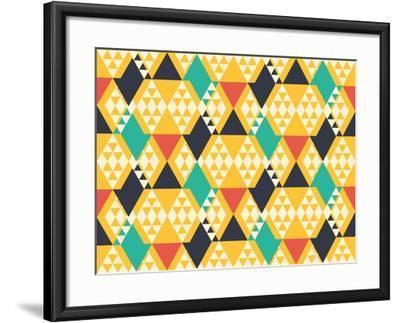 Abstract Retro Pattern. Vector Illustration.- artsandra-Framed Art Print