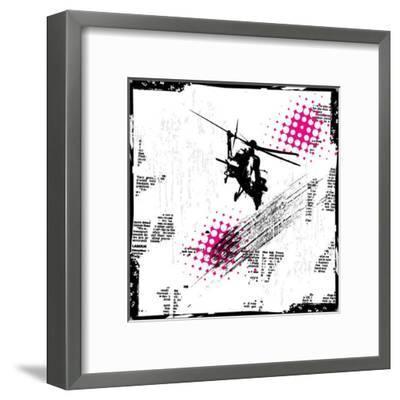 Grunge Vector Background Illustration-elanur us-Framed Art Print