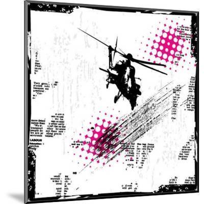 Grunge Vector Background Illustration-elanur us-Mounted Art Print