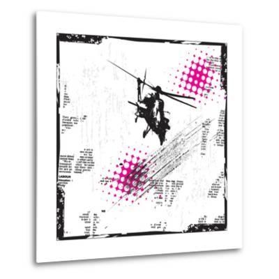 Grunge Vector Background Illustration-elanur us-Metal Print
