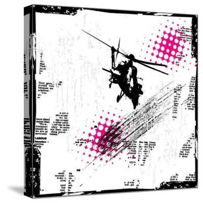 Grunge Vector Background Illustration-elanur us-Stretched Canvas Print