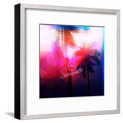 Paradise Island-Palm Tree Sunset- AlessandraM-Framed Art Print