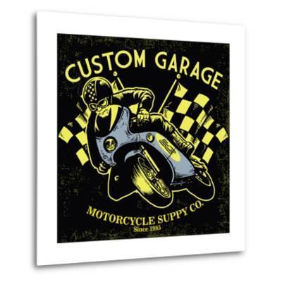 Retro Motorcycle Race- bazzier-Metal Print