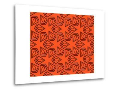 Abstract Geometric Seamless Pattern. Vector. Orange-Alexander Rakov-Metal Print