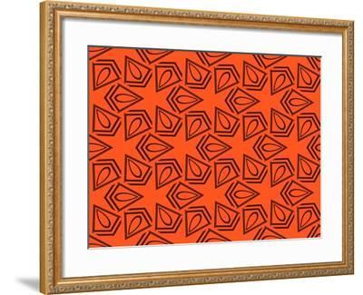 Abstract Geometric Seamless Pattern. Vector. Orange-Alexander Rakov-Framed Art Print