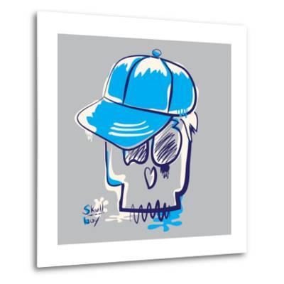Skull Boy Illustration, Typography, T-Shirt Graphics- Syquallo-Metal Print
