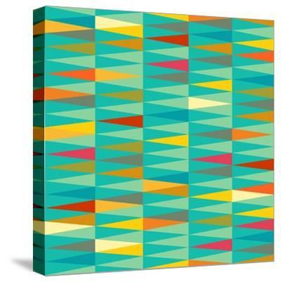 Vector Abstract Geometric Triangle Seamless Pattern in Tribal Style with Ethnic Motifs. Colorful En-babayuka-Stretched Canvas Print