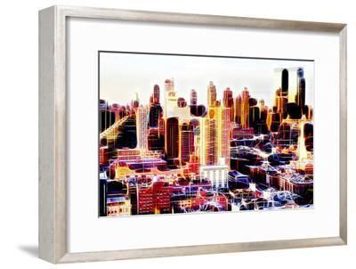 Manhattan Shine - Midtown Sunset II-Philippe Hugonnard-Framed Photographic Print