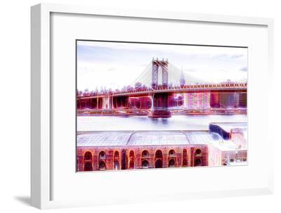 Manhattan Shine - NY Bridge-Philippe Hugonnard-Framed Photographic Print