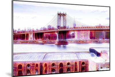 Manhattan Shine - NY Bridge-Philippe Hugonnard-Mounted Photographic Print