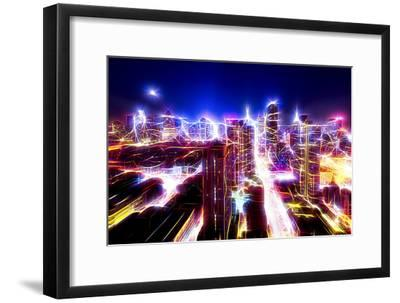 Manhattan Shine - Dazzling Night-Philippe Hugonnard-Framed Photographic Print