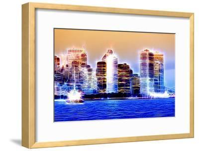 Manhattan Shine - Blue Night-Philippe Hugonnard-Framed Photographic Print