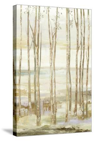 White on white trees-Allison Pearce-Stretched Canvas Print