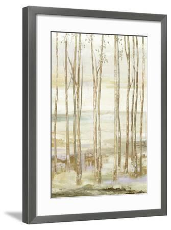 White on white trees-Allison Pearce-Framed Art Print