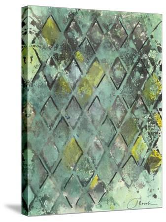 Lattice in Green II-Joyce Combs-Stretched Canvas Print