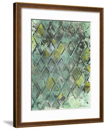 Lattice in Green II-Joyce Combs-Framed Art Print