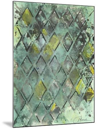 Lattice in Green II-Joyce Combs-Mounted Art Print