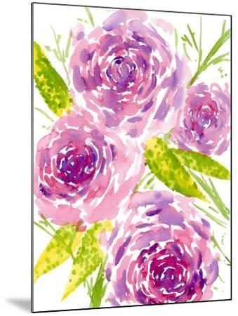 Bouquet Rose II-Melissa Wang-Mounted Art Print